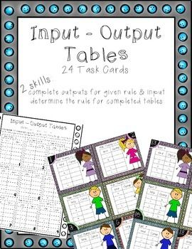 Multiplication input output tables task cards 1995871 teaching