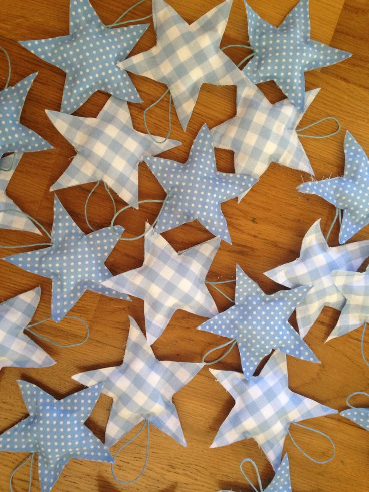 Handmade pillow stars