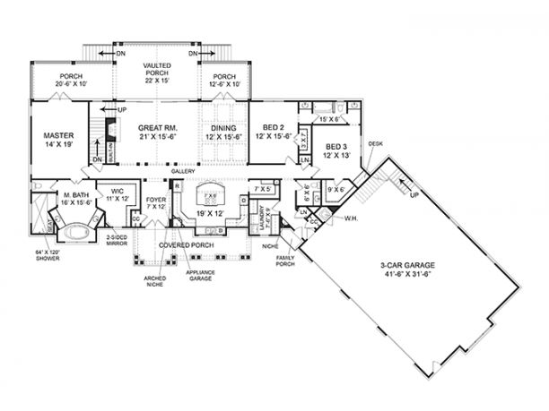 Hhhhh 2 666 sq 39 very well organized really good use of for Angled garage house plans