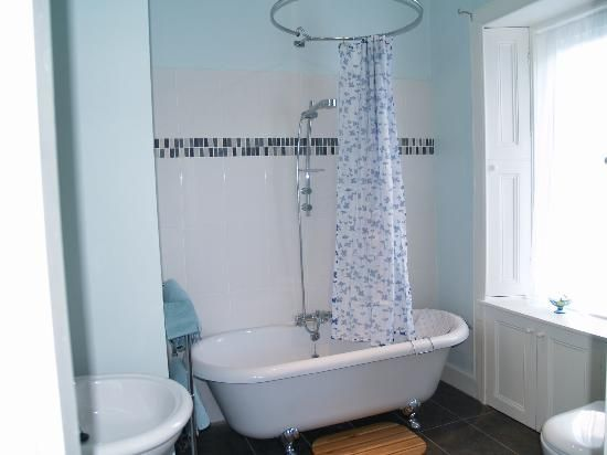 Eyemouth UK En Suite With Roll Top Bath And Overhead Shower