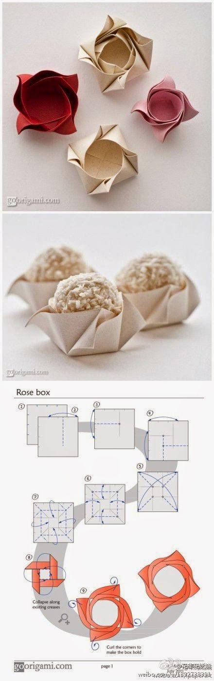 embalagem para brigadeiro de papel dobrado - origami