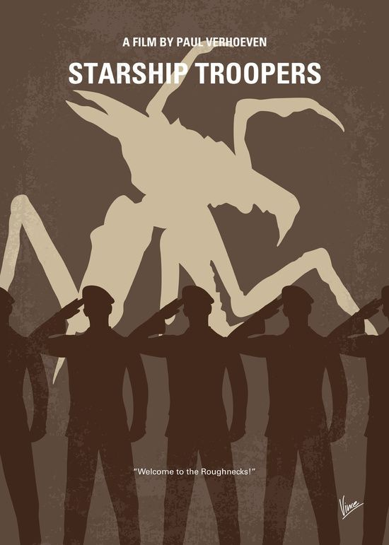 Starship Troopers (1997) ~ Minimal Movie Poster by Chungkong #amusementphile