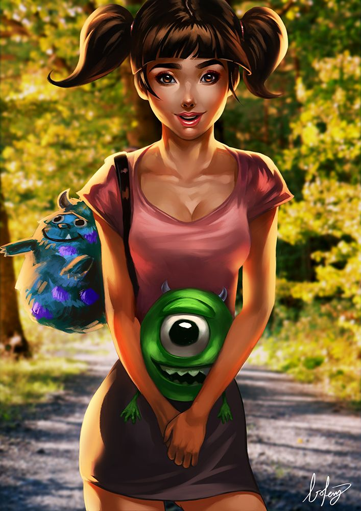 """Boo by BoFeng.deviantart.com on @DeviantArt - From """"Monsters Inc""""; grown-up version of the character"""