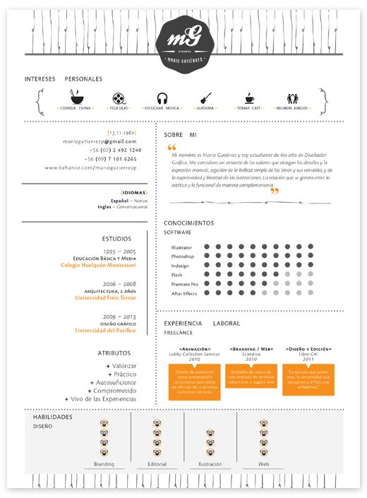 20 cool resume cv designs - Cool Resumes