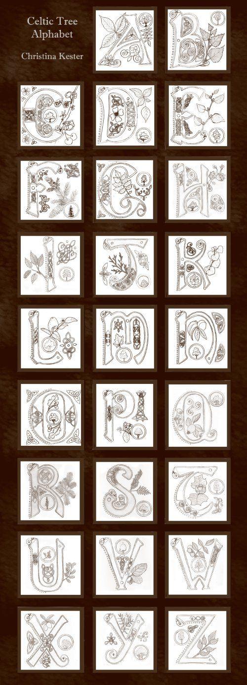 Celtic Alphabet by Christin Kester