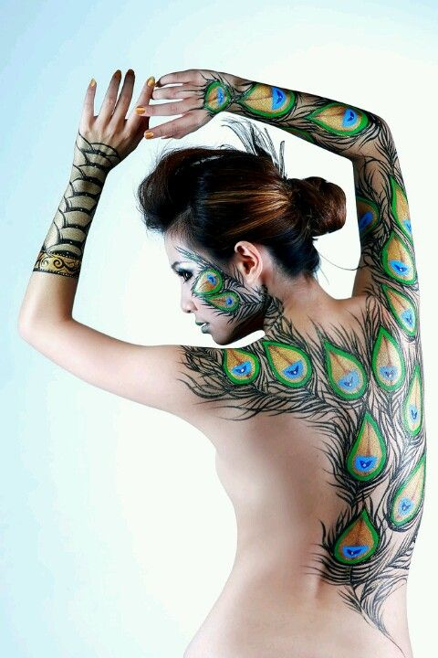 Body painting #peacock