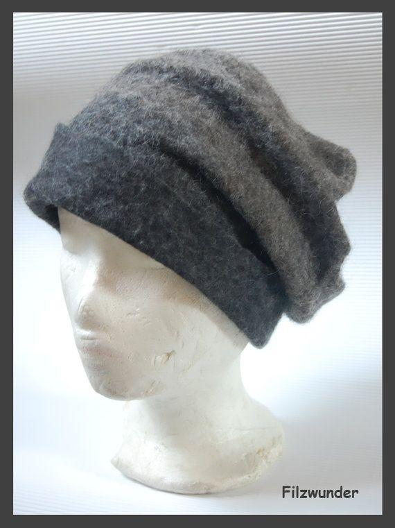 Eco stijl natuurlijke mode hoed vilten hoed natur door Filzwunder