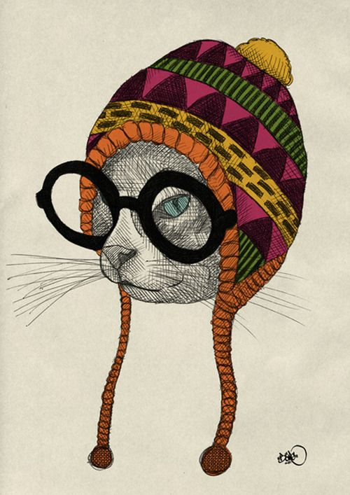 Hipster Animal Illustration Series By B 246 Rg More Hipster
