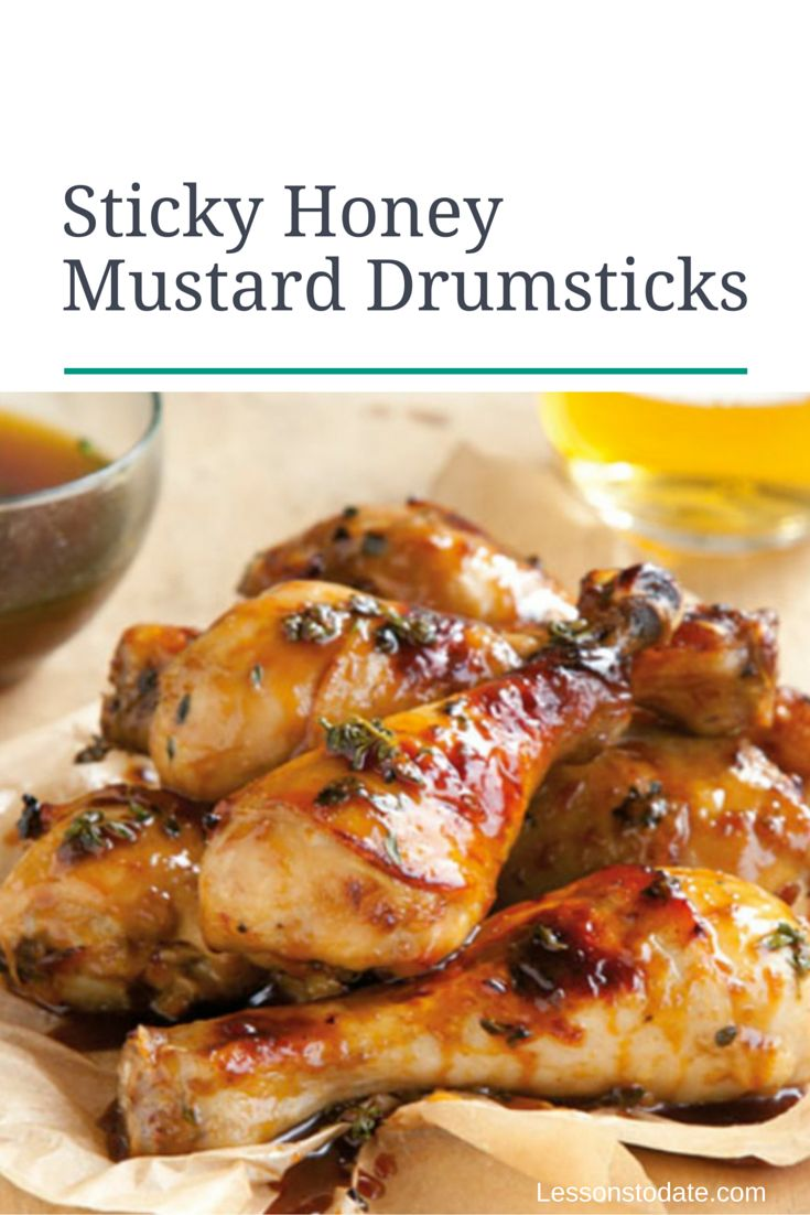Sticky drumsticks the children will love for dinner!
