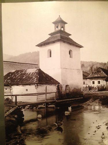 """Pavel Sochan 9x13 Black & White Photograph Slovakia """"Belfry, Štiavnička"""" Church"""
