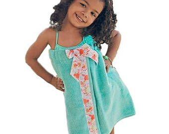 Child's Towel Wrap- Toddlers Towel Wrap- Bath Towel Wrap- Spa Wrap- Personalized Towel Wrap - Holiday Gift Ideas - Childs Towel Wrap