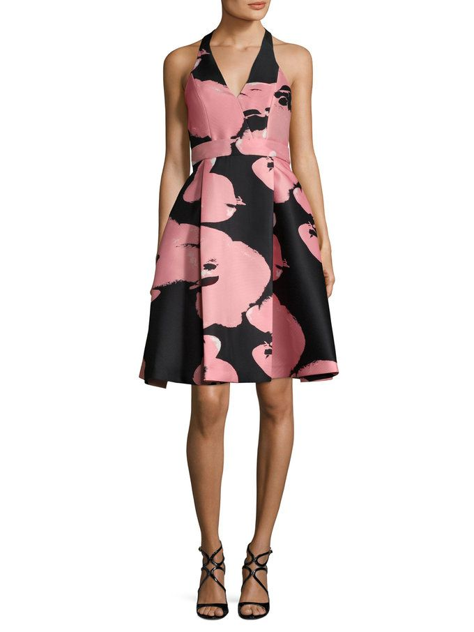 Halter Neck Printed A Line Dress from Get Dressed: Cocktail & Evening Elegance on Gilt