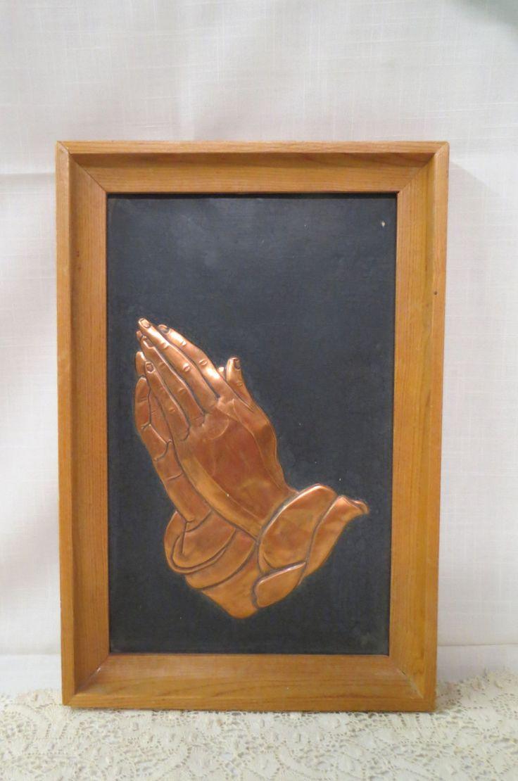 Vintage Embossed Copper Framed Praying Hands Albrecht Durer by KansasKardsStudio on Etsy