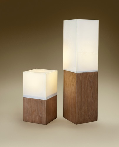 Wood & Glass  table lamps