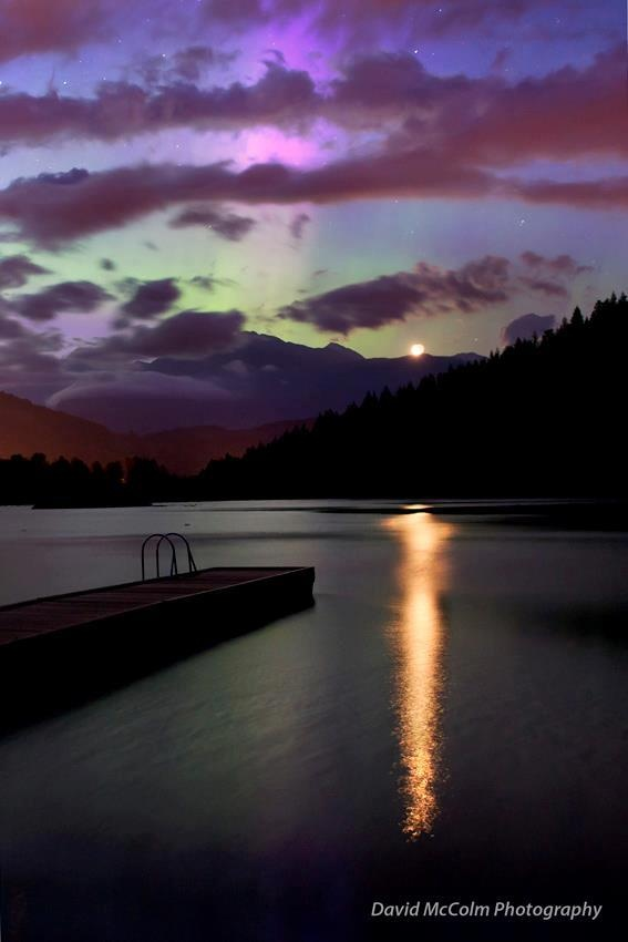 """""""Moonrise over One Mile Lake in Pemberton."""" Photo submitted by David McColm Photography. #explorebc  #GILoveBC"""