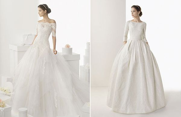 Vestidos de novia con manga larga #boda #vestidos #novias