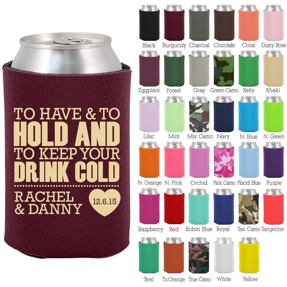 Wedding Can Coolers 1806 To Have and To Hold  by MyWeddingStore