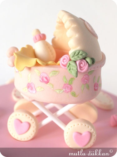 WOW! Edible Baby Shower Carriage Cake