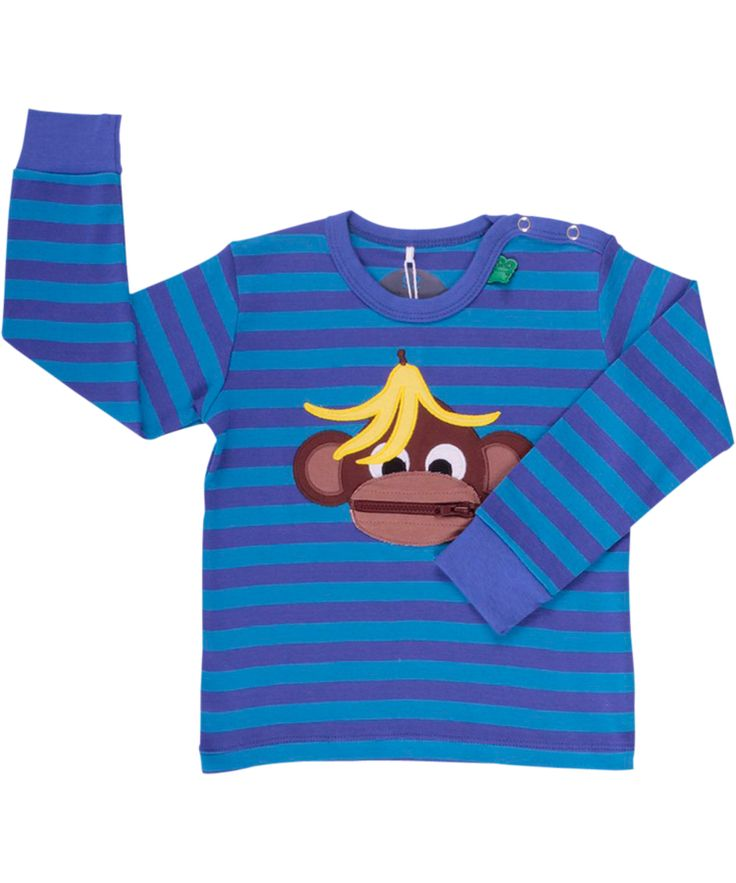 Fred's World super cool T-shirt with banana monkey. freds-world.en.emilea.be