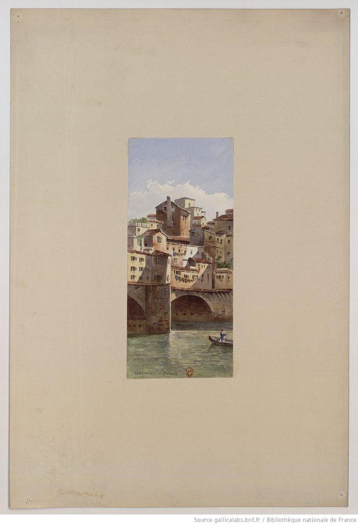 Veduta di Firenze : [vue du Ponte Vecchio et de l'Arno à Florence] : [peinture] / J. Vervloet