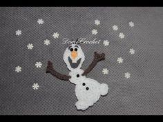 Crochet Olaf applique │ Frozen │ More