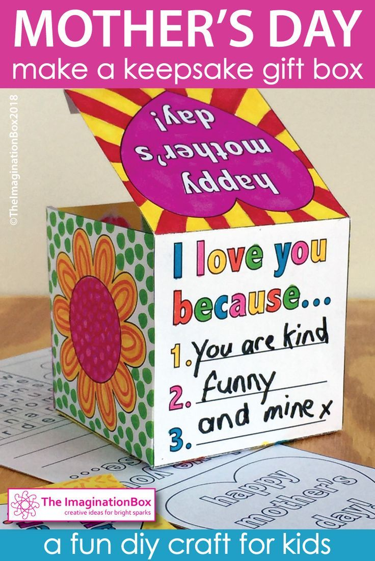 Mothers Day Craft Activity Keepsake Gift Box Mothers Day Crafts Art And Craft Videos Mothers Day Crafts For Kids