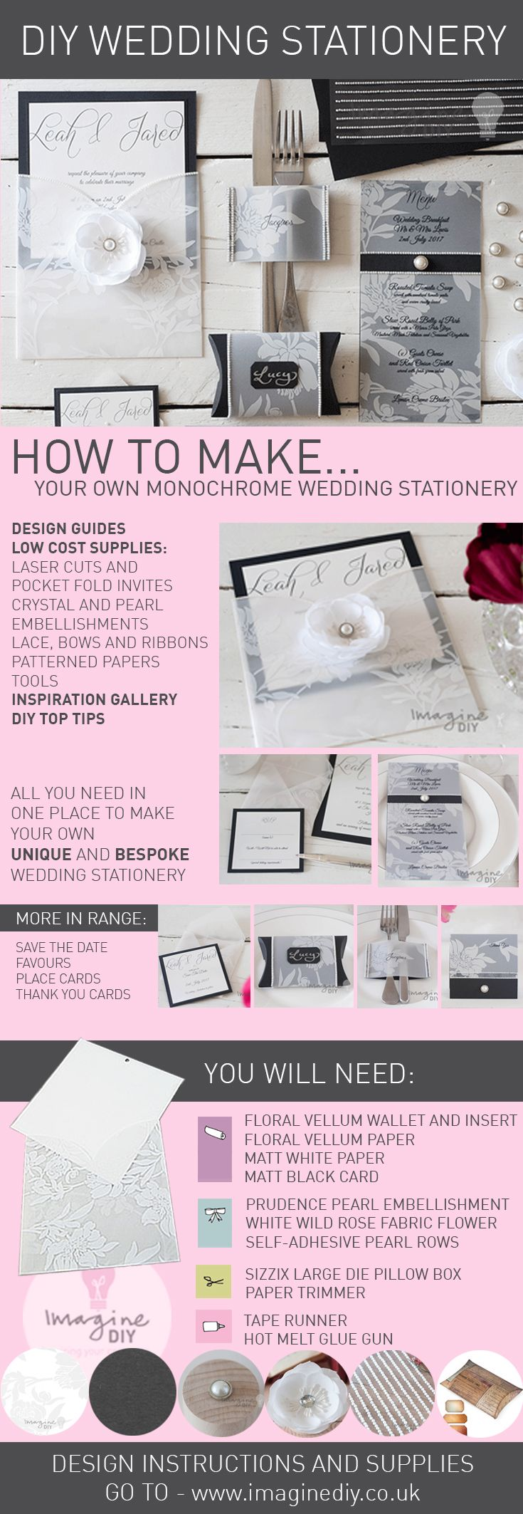 232 best wedding stationery designs images on pinterest cards monochrome black and white diy design guide junglespirit Images