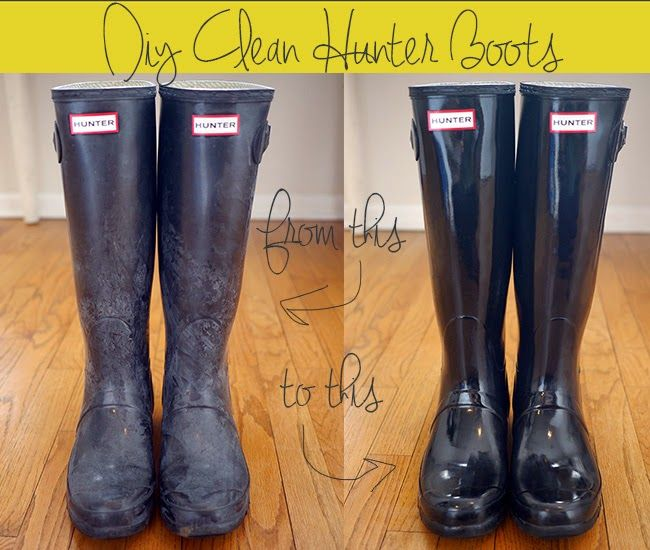 How to Clean Hunter Boots - good to know!! soapy cloth. let dry, then rub with olive oil.