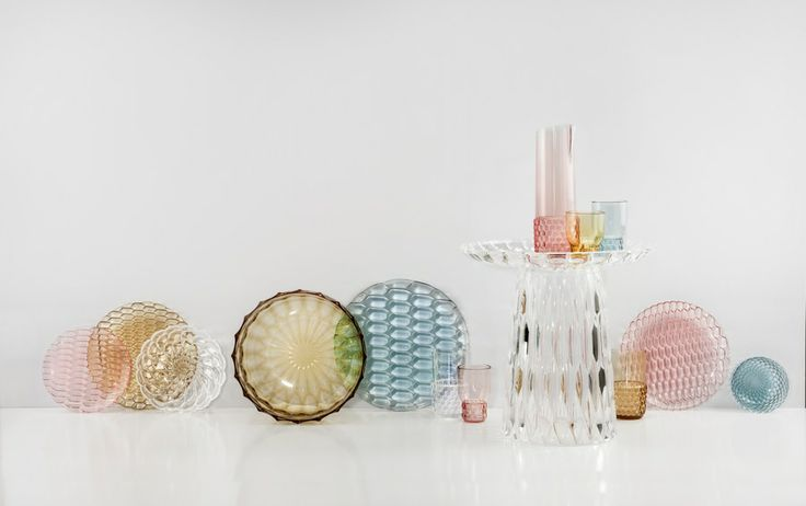 Jellies Family tabeware collection designe by Particia Urquiola for Kartell