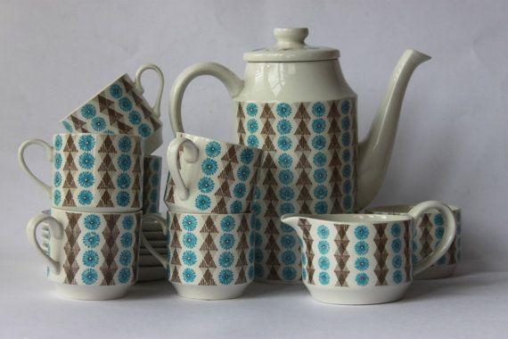 Scarce Midwinter coffee/ tea set Nordic Jessie by MillCottageRetro, £60.00