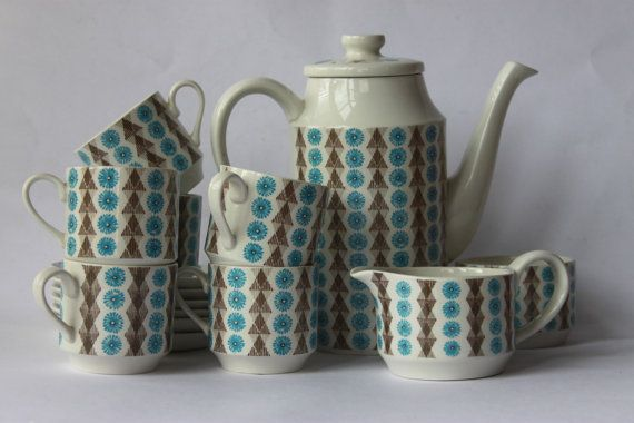 Scarce Midwinter coffee/ tea set Nordic Jessie by MillCottageRetro, £60.00