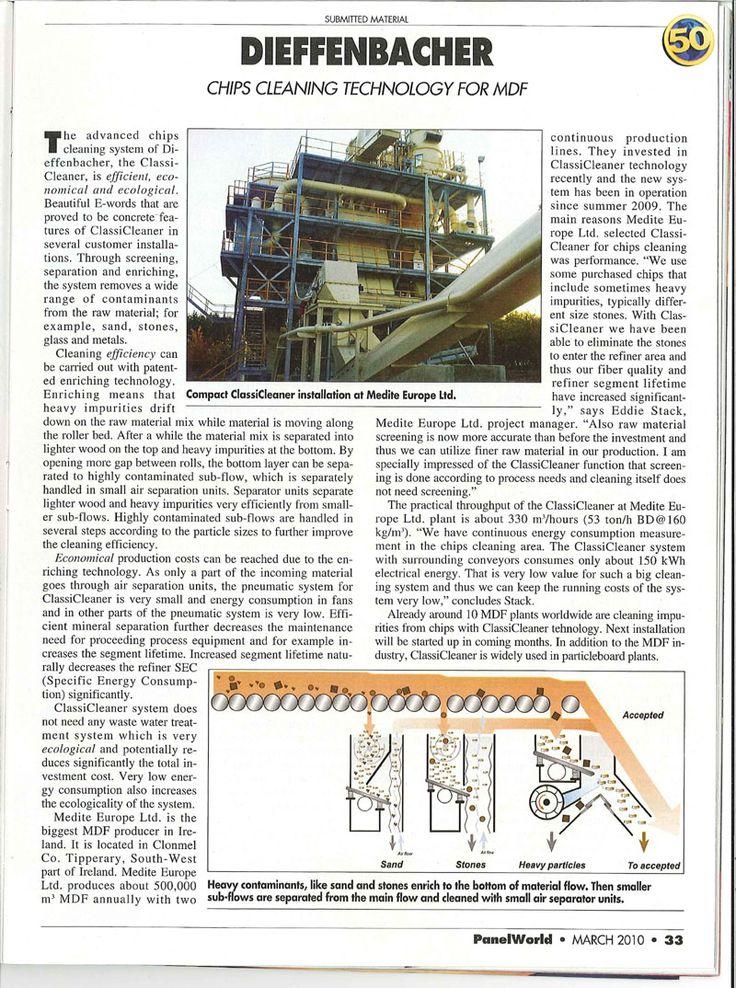 Tuoteartikkeleiden toteutus alan ammattilehdille yhteistyössä tuotepäälliköiden kanssa (Metso & Dieffenbacher, 2001-2010)