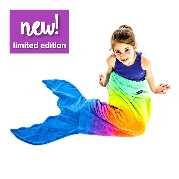 NEW! Limited Edition Rainbow-Ombre Blankie Tails® - Assorted Sizes from Blankie Tails