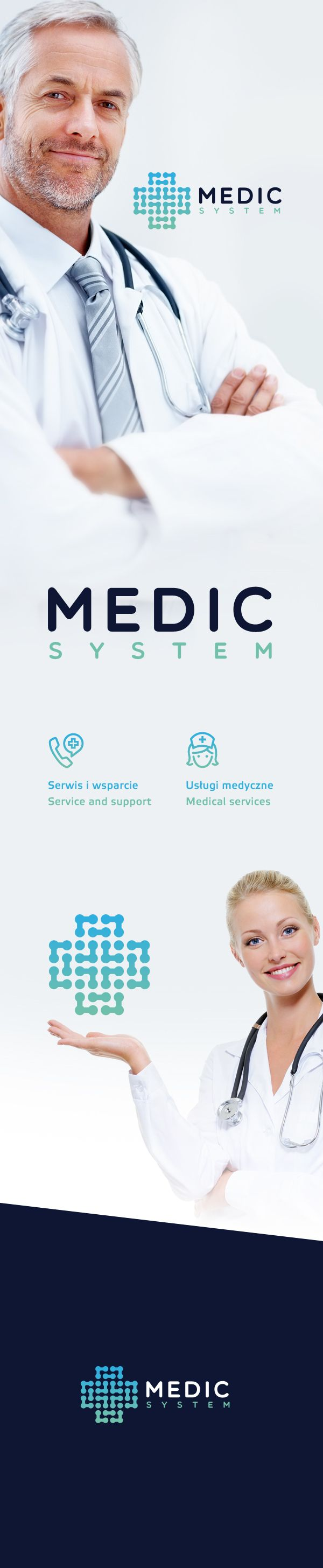 logo for medical company / FOR SALE by Karol Sidorowski, via Behance