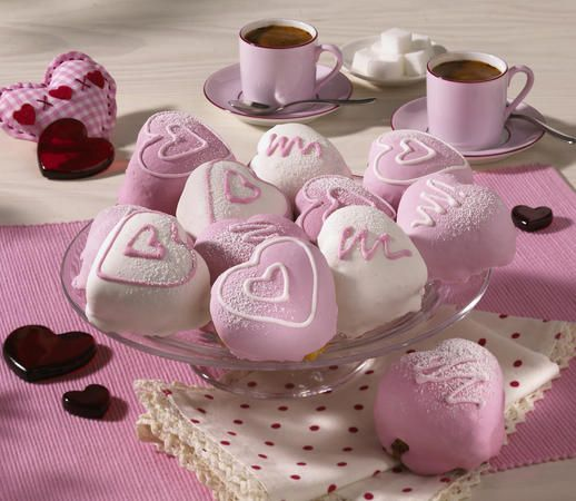Cherry fondant fancies