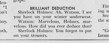 brilliant holmes: Wear Pants, Boys Scouts, Corny Jokes, Funny Stuff, Funnies, Holmesian Jokes, Sherlock Funny, Sherlock Holmes, Ruiner Sherlock