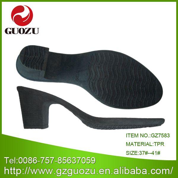 China Latest Design High Heel Lady Sole Gz-7583 - China Tpr Sole, Comfort Outsole