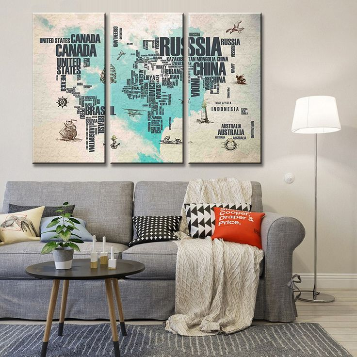 Abstract world map in letters