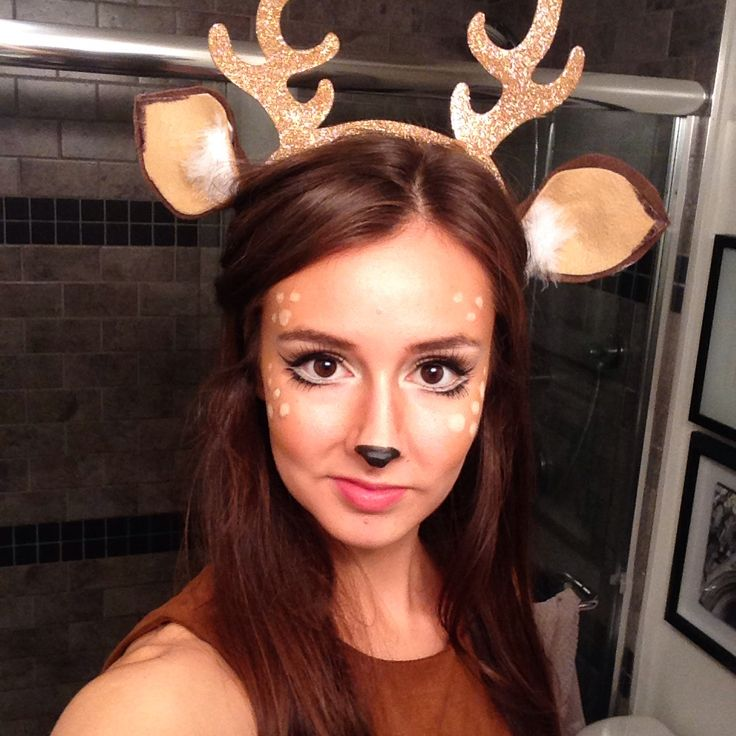 Deer / Bambi makeup. Such an easy Halloween costume!                                                                                                                                                                                 More