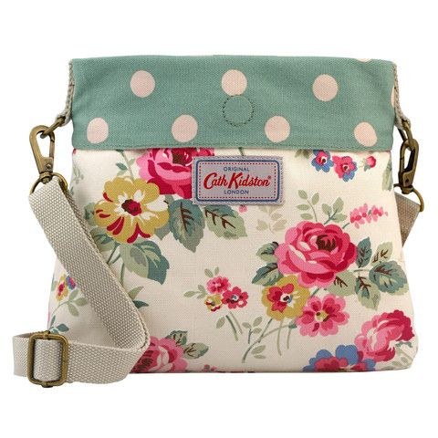 Cath Kidston Clarendon rose mini messenger reversible bag