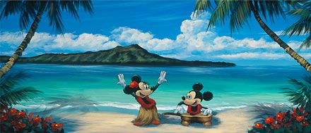Mickey Mouse - Hawaiian Vacation - Minnie - Walfrido Garcia - World-Wide-Art.com
