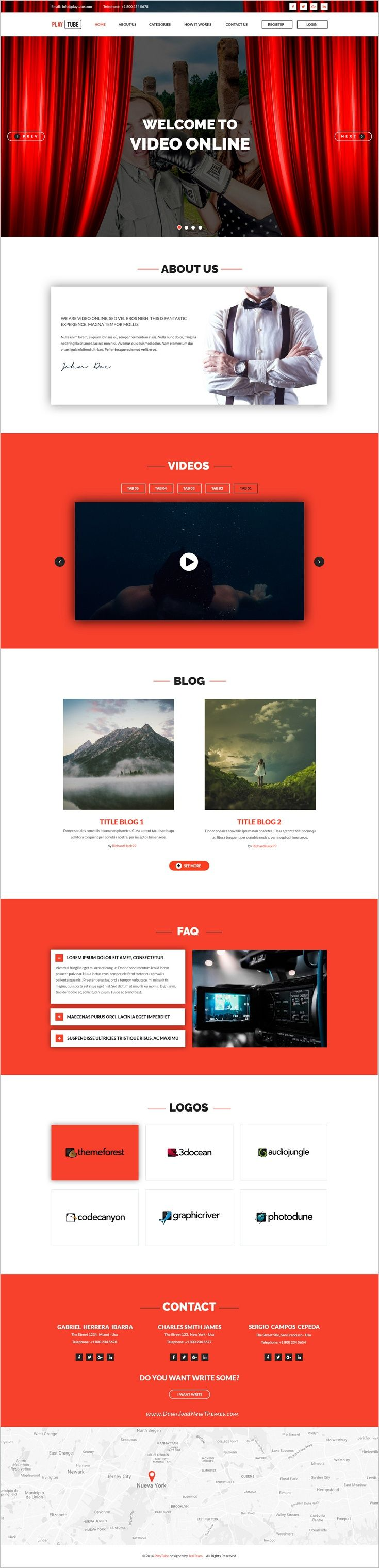 PlayTube is a wonderful #PSD Template suitable for #webdev any #sites of #video, videos download website download now➩ https://themeforest.net/item/playtube-video-psd-template/18123396?ref=Datasata