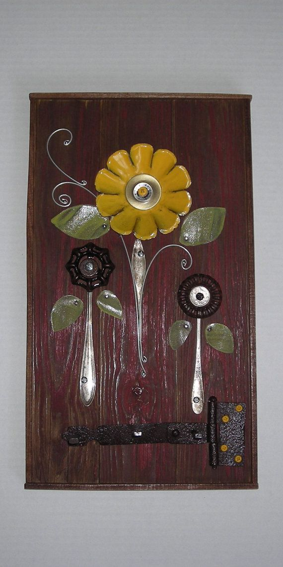 Found object assemblage art wall hanging by Imperfetions ...
