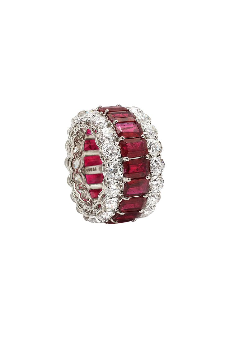Bayco - Platinum Ruby & Diamond Ring