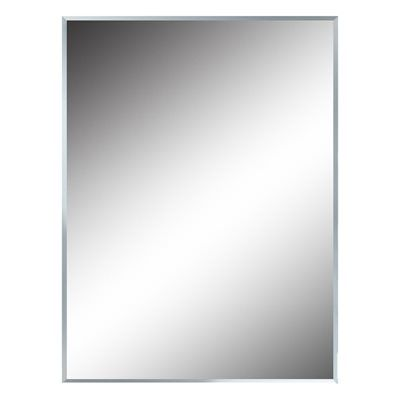 Style Selections 30-in x 40-in Silver Polished Rectangle Frameless Traditional Wall Mirror