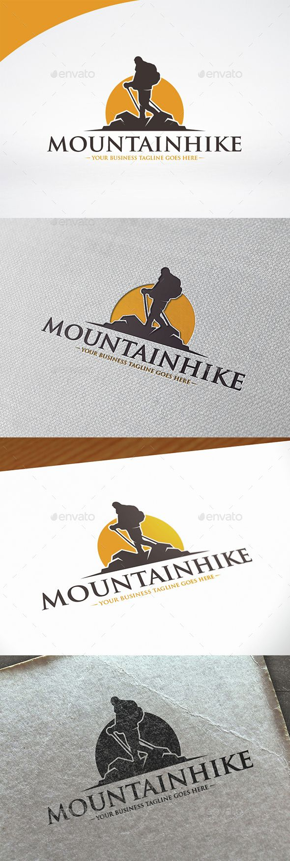 Mountain Hike - Logo Design Template Vector #logotype Download it here: http://graphicriver.net/item/mountain-hike-logo-template/15072536?s_rank=85?ref=nesto