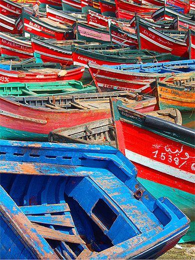 Maroc - Barques Port de Pêche El Jadida