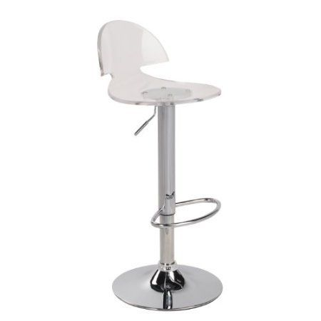 New JERSEY SEATING Clear Acrylic Bar Stool Counter Swivel Chair by ...