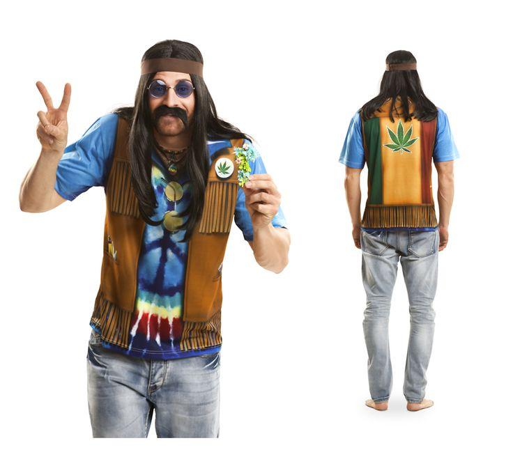 Camiseta disfraz #hippie.¡¡¡Apúntate a la moda y Camisfrázate!!! #costume #fathersday #disfraces #disfraz #diadelpadre