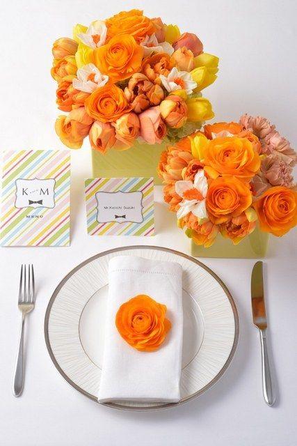 結婚式場写真「オレンジは人気のカラー」 【みんなのウェディング】